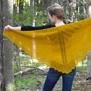 Burning Leaves Shawl