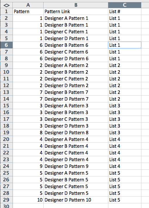 GAL Excel Sample 3